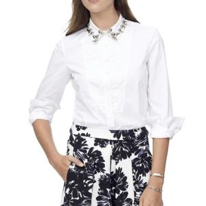 NEW REBECCA TAYLOR embellished  collar blouse